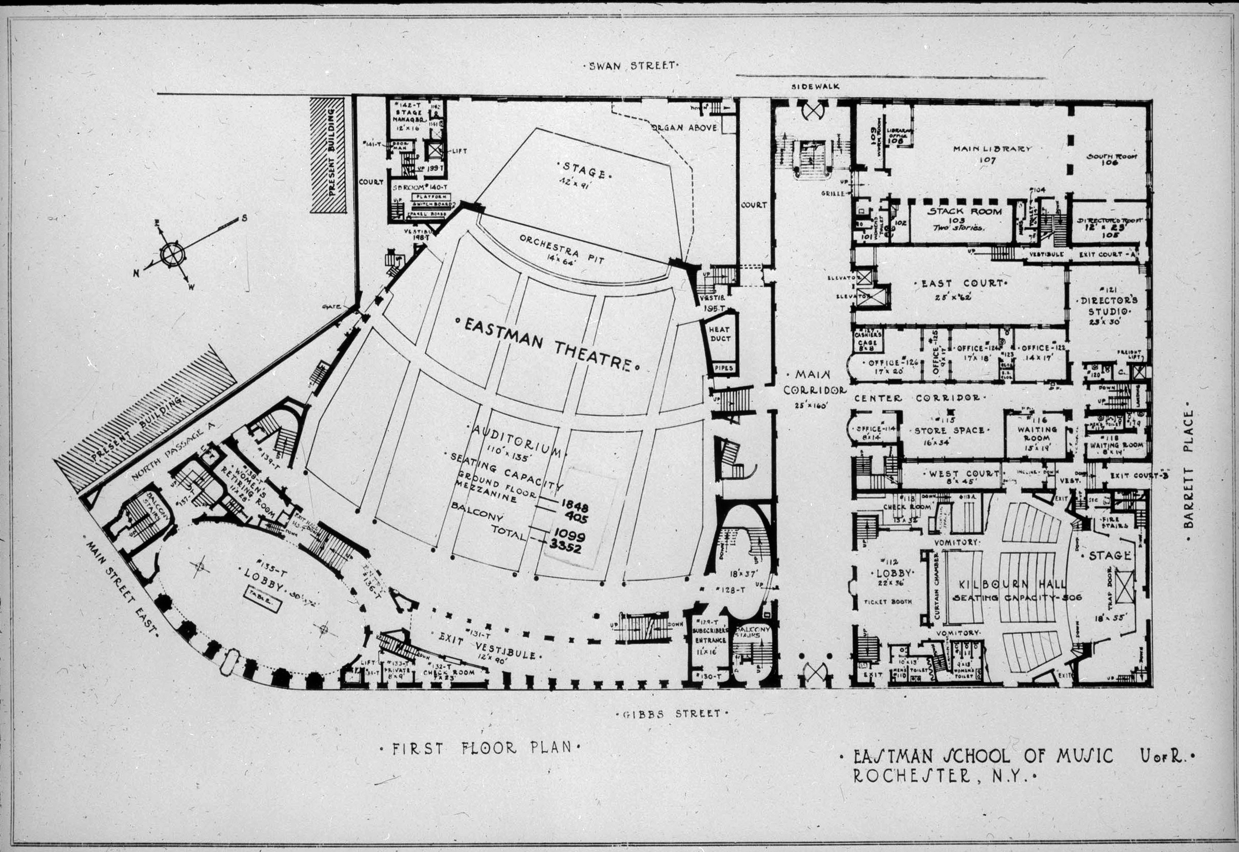 Eastman Theatre floor plan