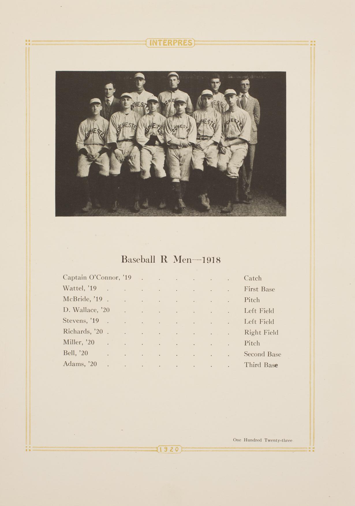 baseball team 1920