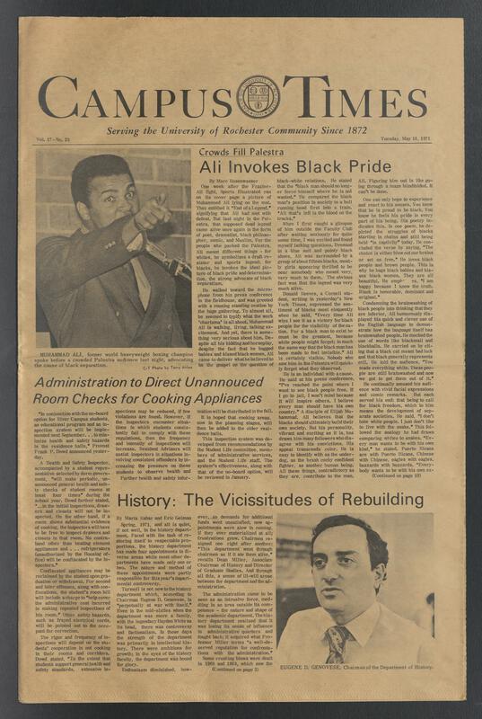 Campus Times, Muhammad Ali