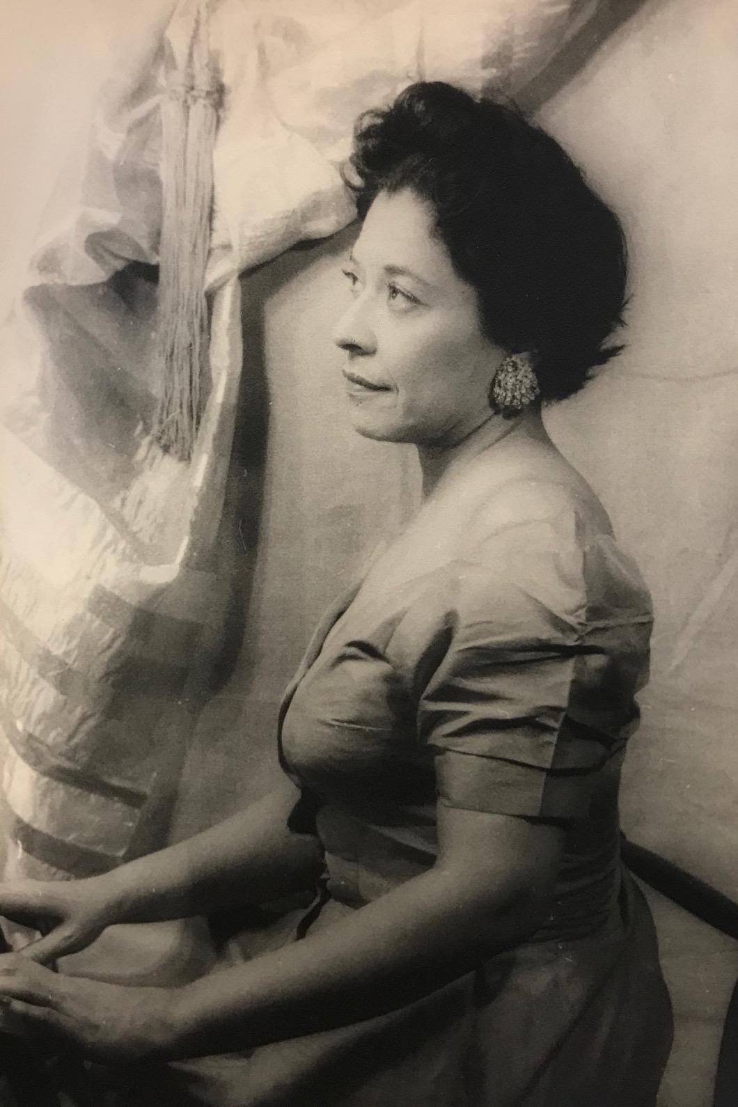 Studio portrait of Mollie Moon by Carl Van Vechten, 1956