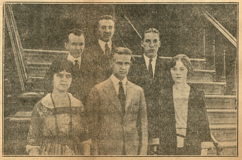 Six deaf students attend the University of Rochester (1921)