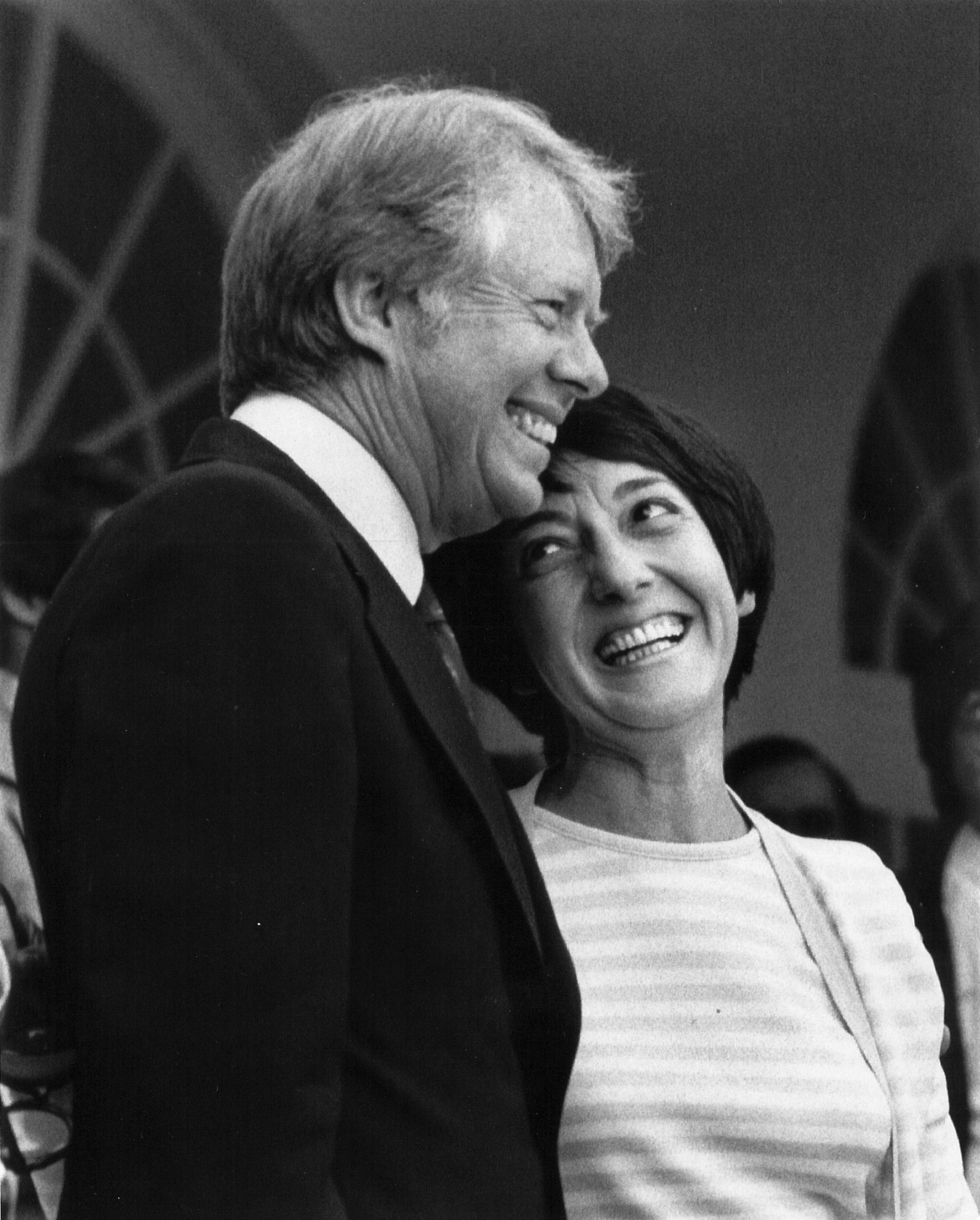 Photograph of Midge Costanza and Jimmy Carter