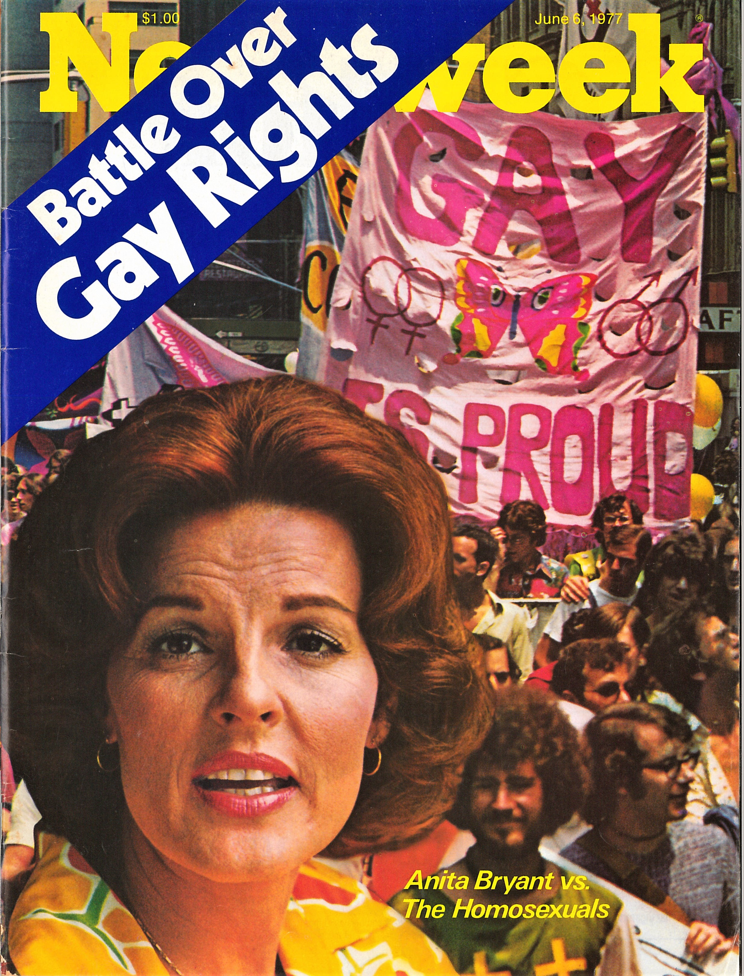 Newsweek magazine with Anita Bryant on the front cover