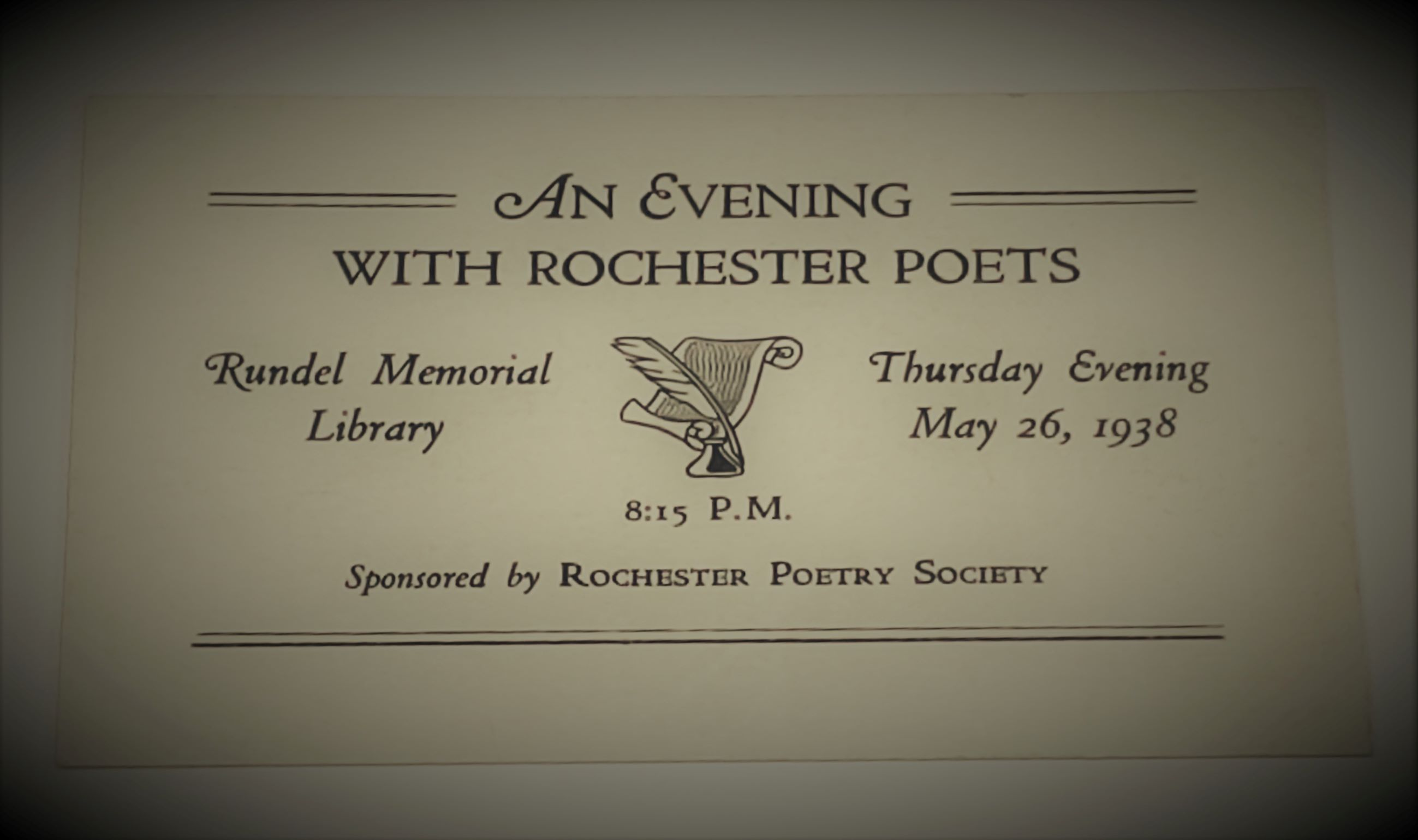 Rochester Poetry Society 1938 event