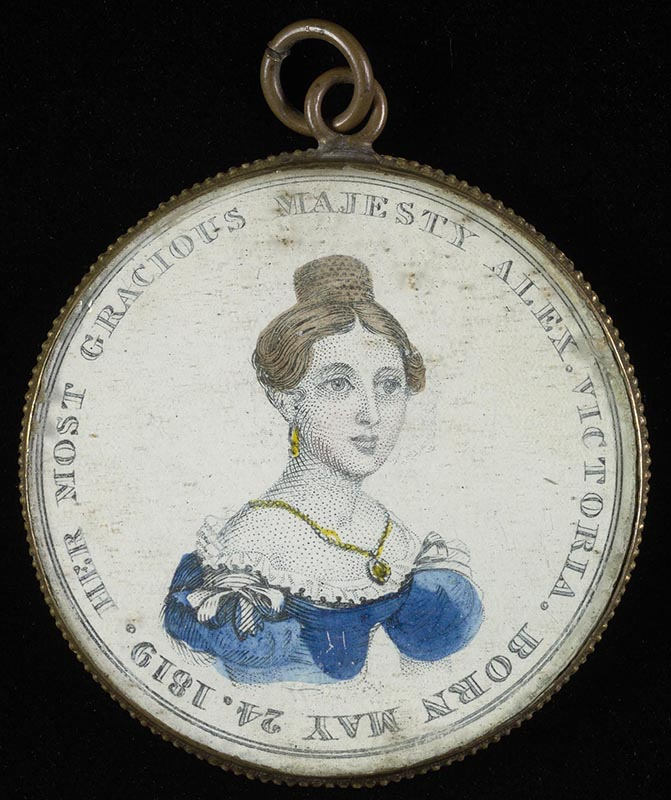 Pendant commemorating Victoria's accession to the throne, June 20, 1837.