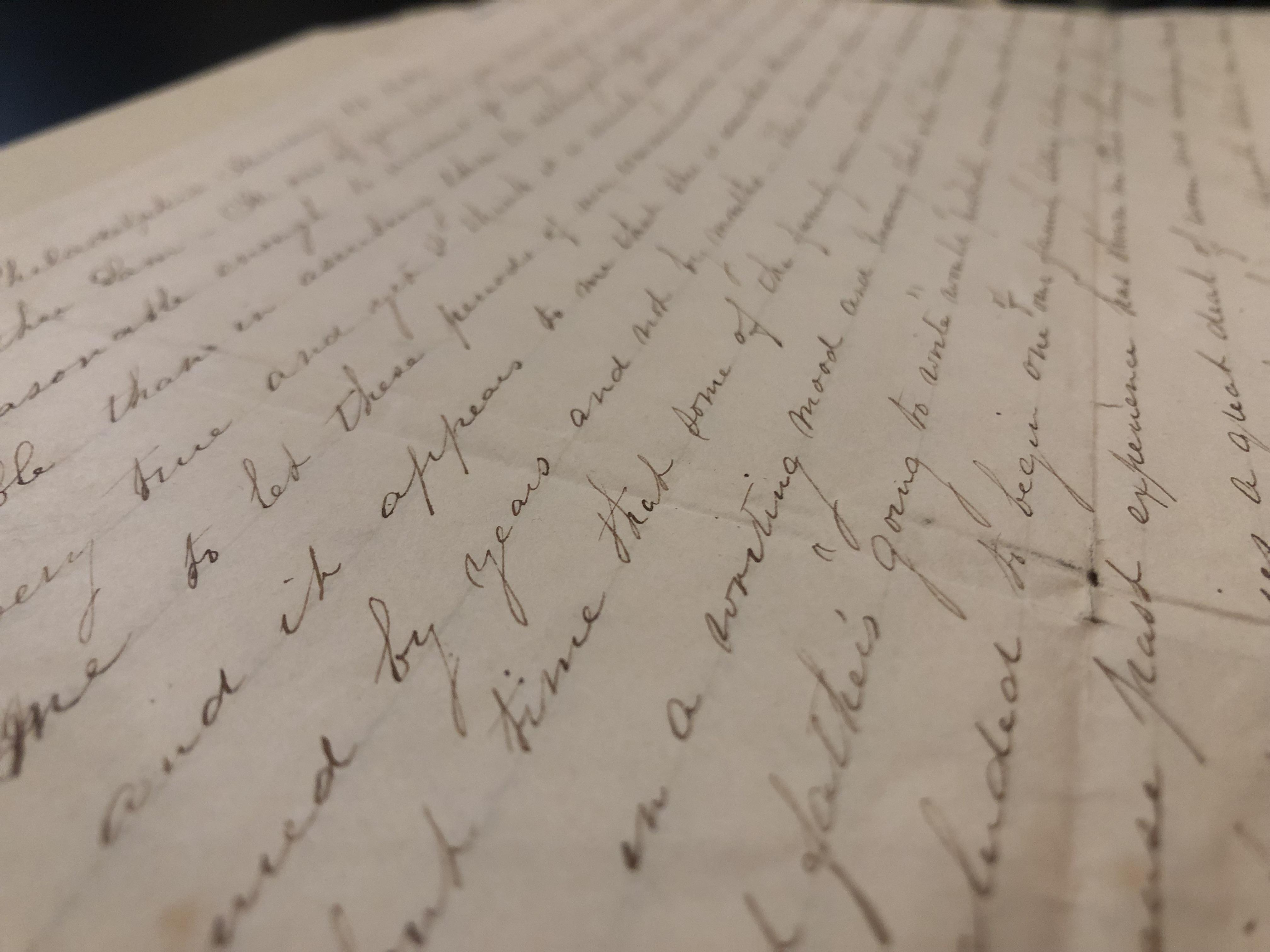 Elizabeth Porter letter