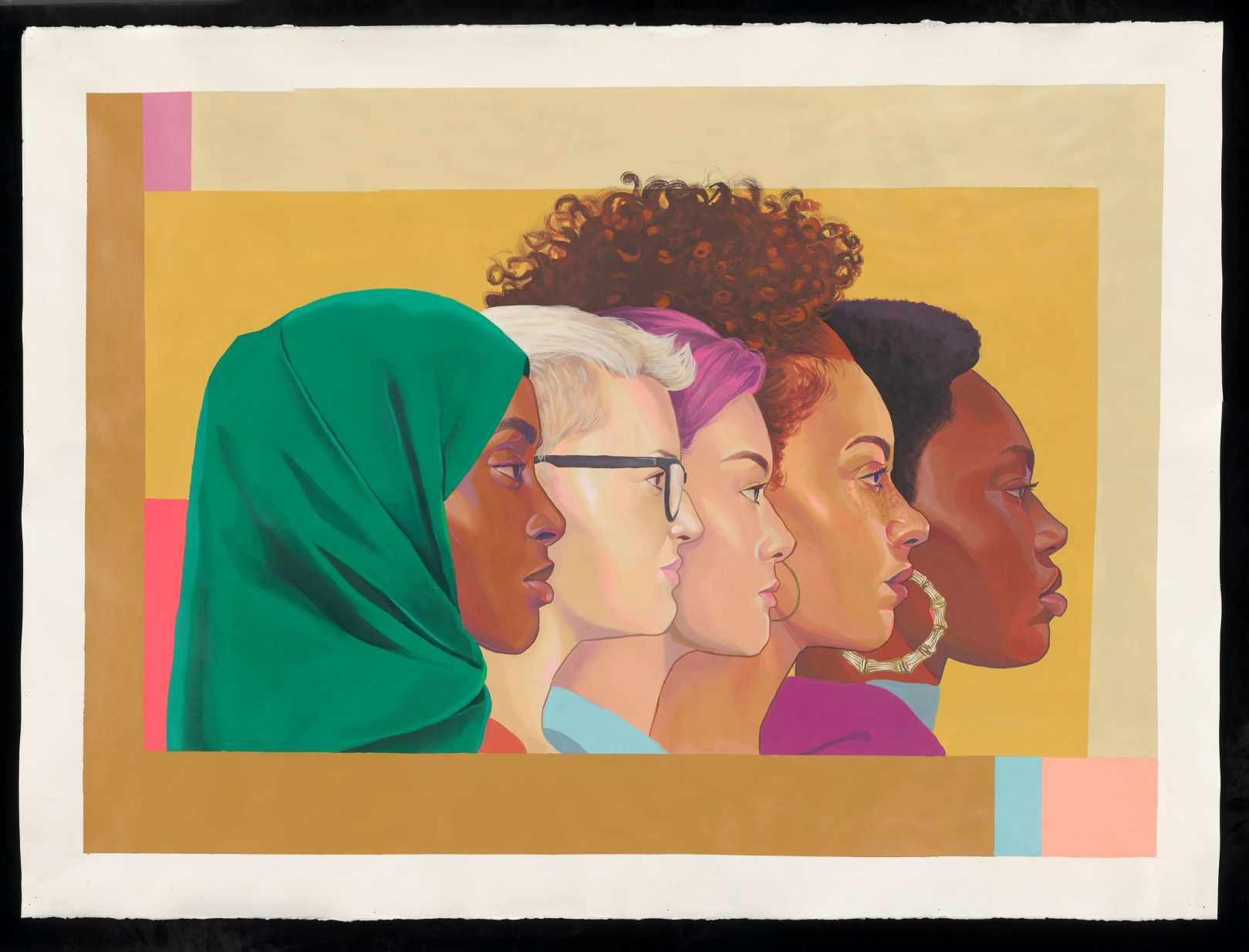profile of four women looking to the right