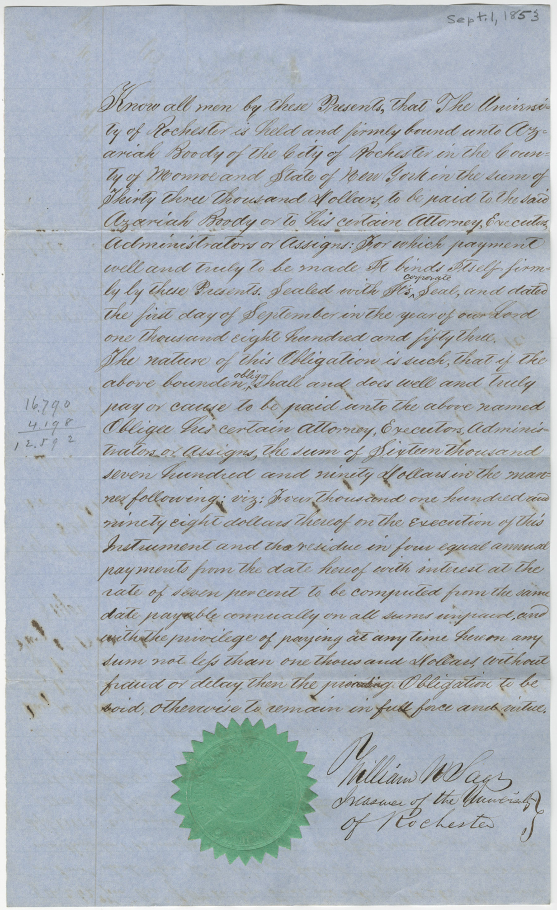 Boody agreement (September 1, 1853)